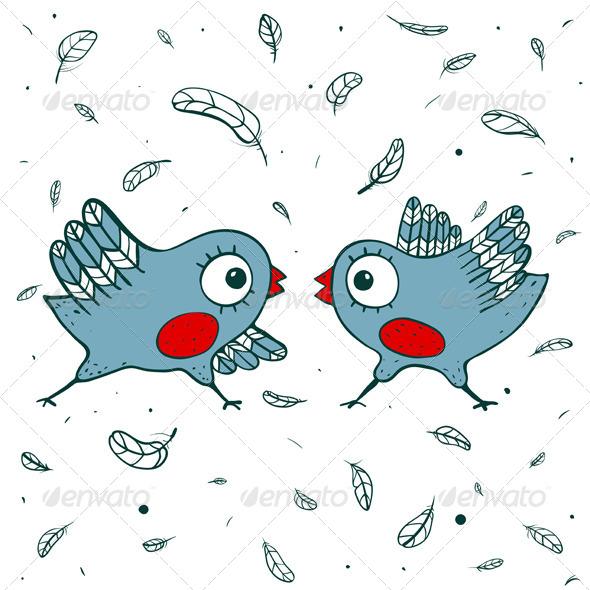 GraphicRiver Birds Quarrel 5422891