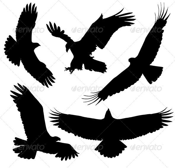 GraphicRiver Eagle Silhouette 5422965