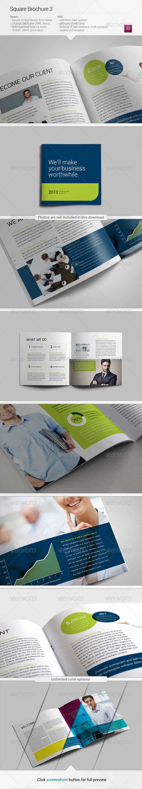 GraphicRiver Square Brochure 3 5403630