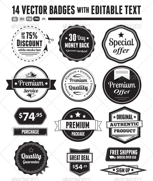 GraphicRiver Retro Vector Vintage Seals 5422880