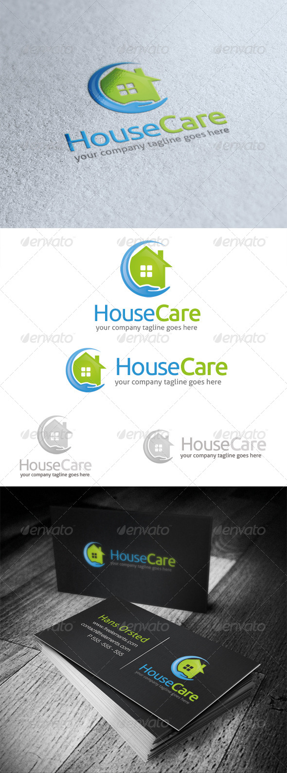GraphicRiver House Care Logo 5423461