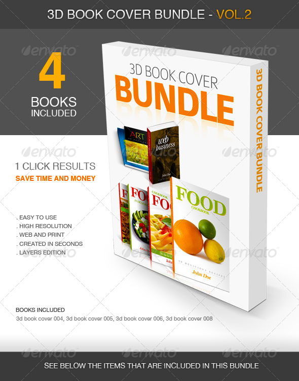 How To Make A Realistic Book Cover ~ D book cover vol bundle graphicriver
