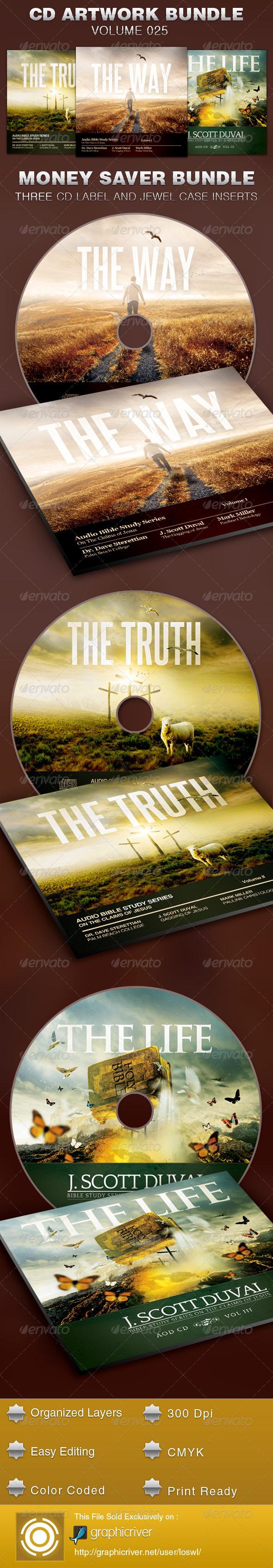 GraphicRiver CD Cover Artwork Template Bundle-Vol 025 5423765