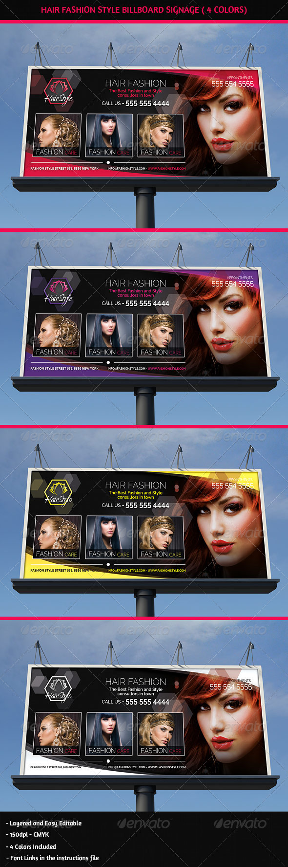 GraphicRiver Hair Salon Fashion Style Billboard Signage 5404661