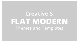 Creative & Flat Modern Themes and Templates