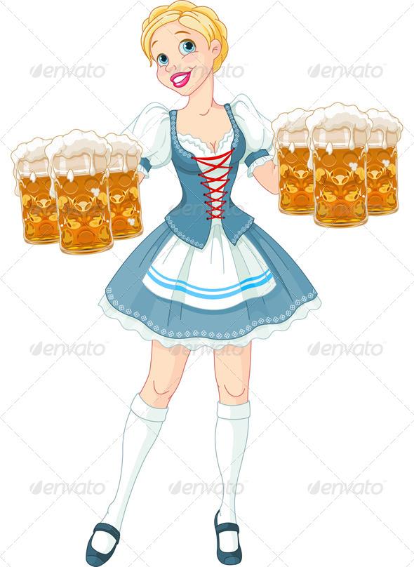 GraphicRiver Oktoberfest Girl 5424074