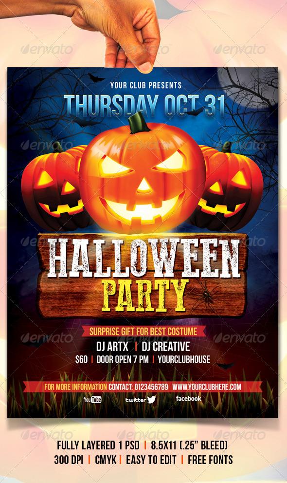 GraphicRiver Halloween Flyer 5403284