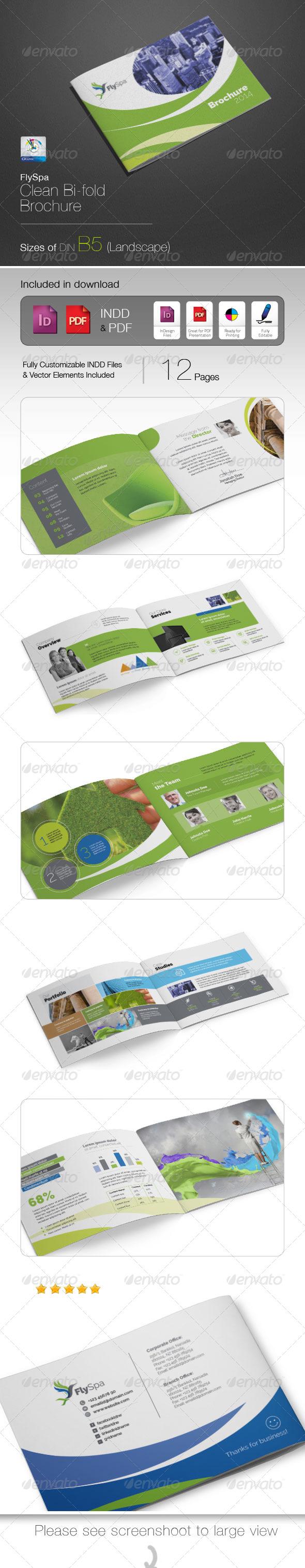 GraphicRiver FlySpa Professional B5 Brochure 5424377