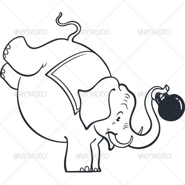 GraphicRiver Circus Elephant 5424390