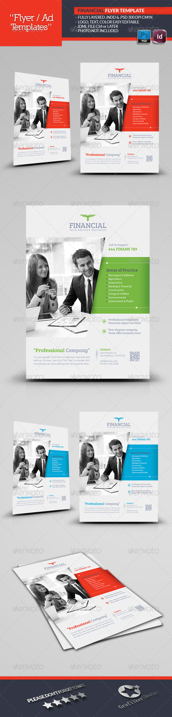 GraphicRiver Financial Flyer Template 5424464