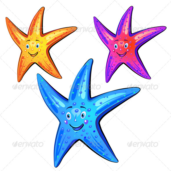 GraphicRiver Colored Starfish 5424488