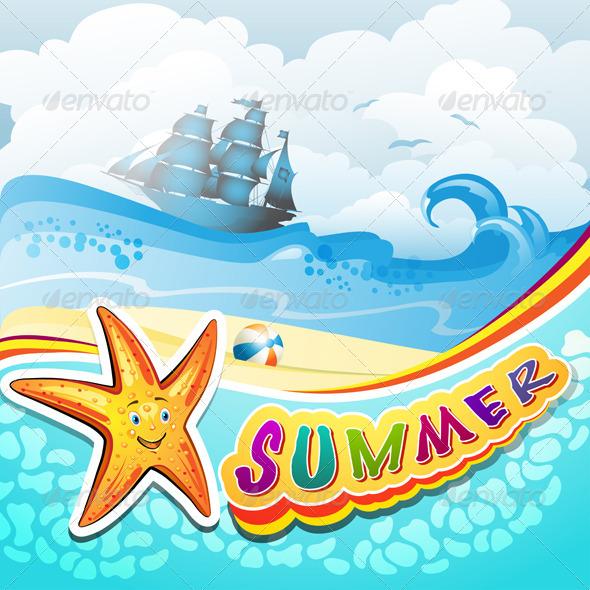 GraphicRiver Summer Beach 5424494