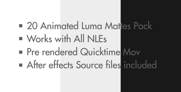 Animated Square Luma Mattes Bundle