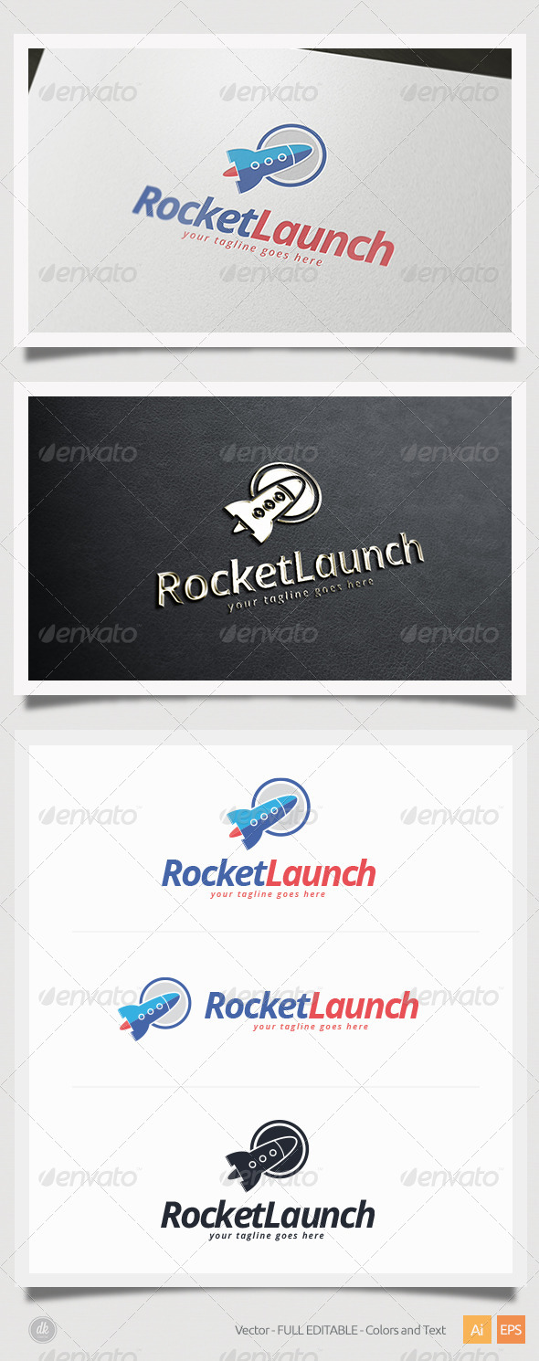GraphicRiver Rocket Launch Logo 5424822