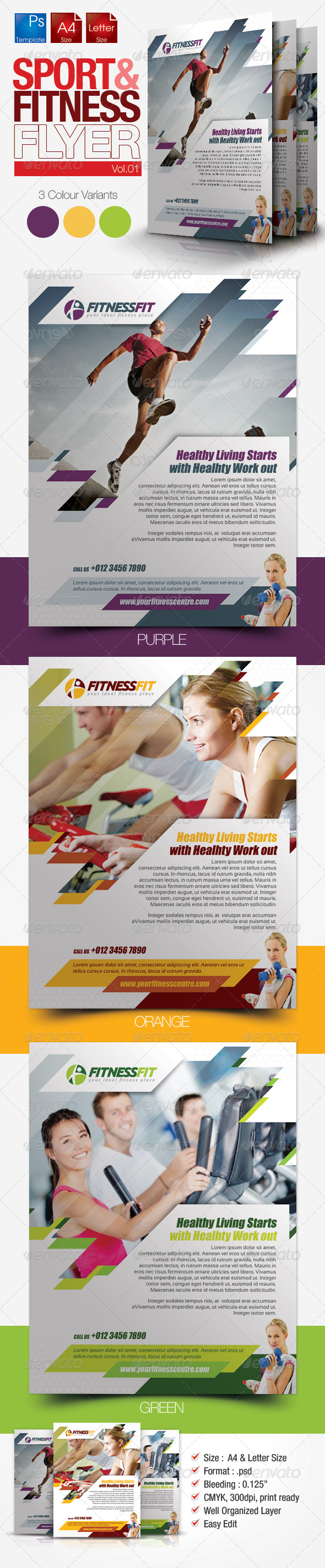 Fitness Flyer Vol.1 - Sports Events