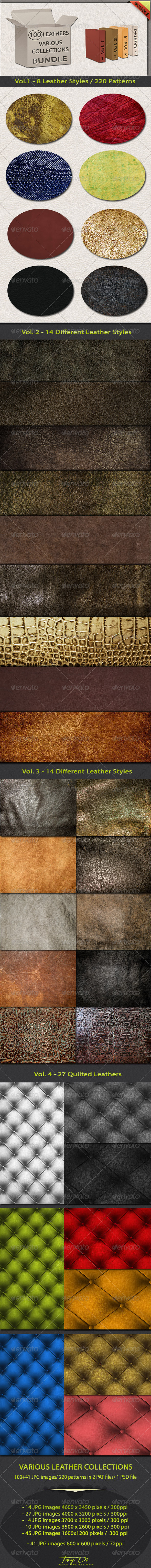 GraphicRiver Various Leather Collections Bundle 5425069
