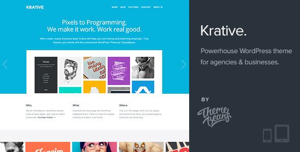 ThemeForest Krative Responsive Multi-Purpose Business Theme 5425131