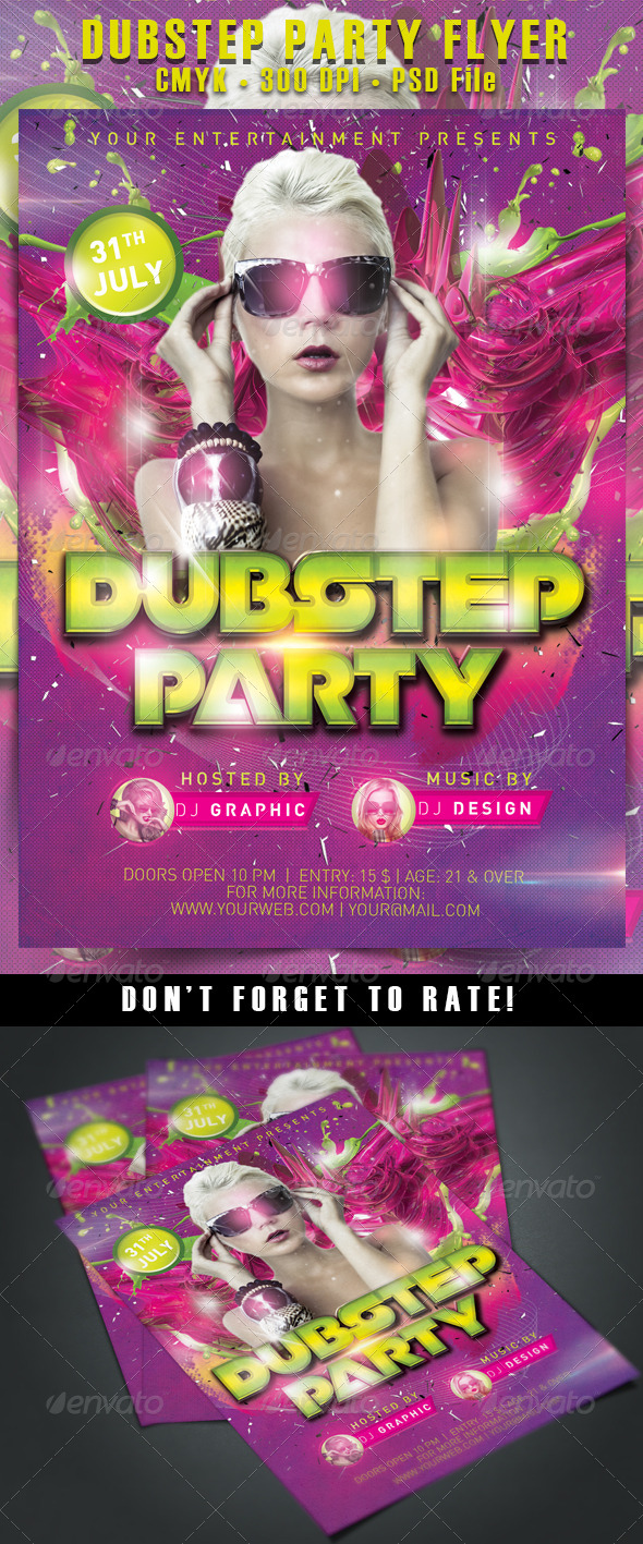 GraphicRiver Dubstep Party Flyer 5425200