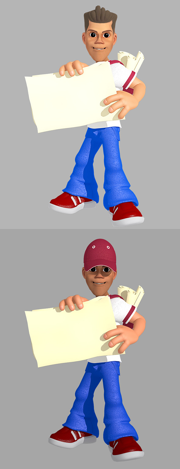 Paperboy 3D Character - 3DOcean Item for Sale