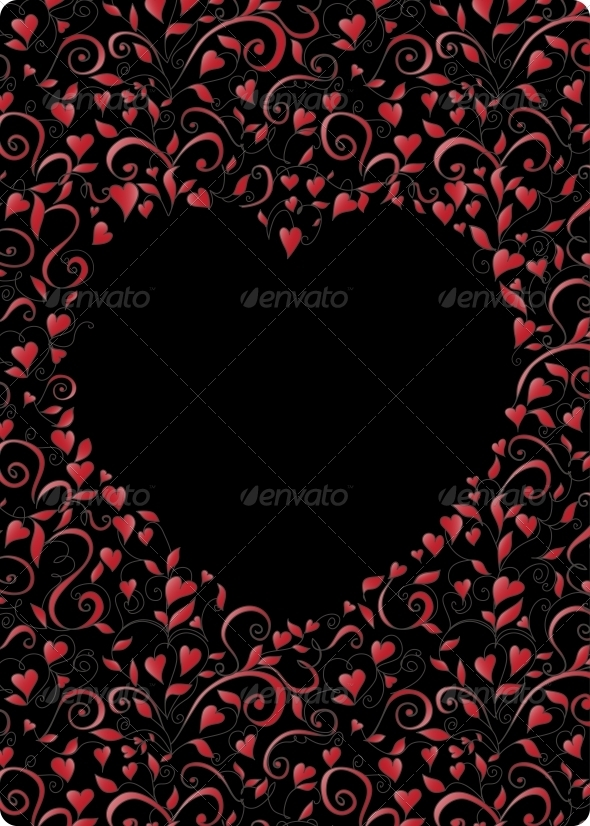 GraphicRiver Heart-Shaped Frame 5425371