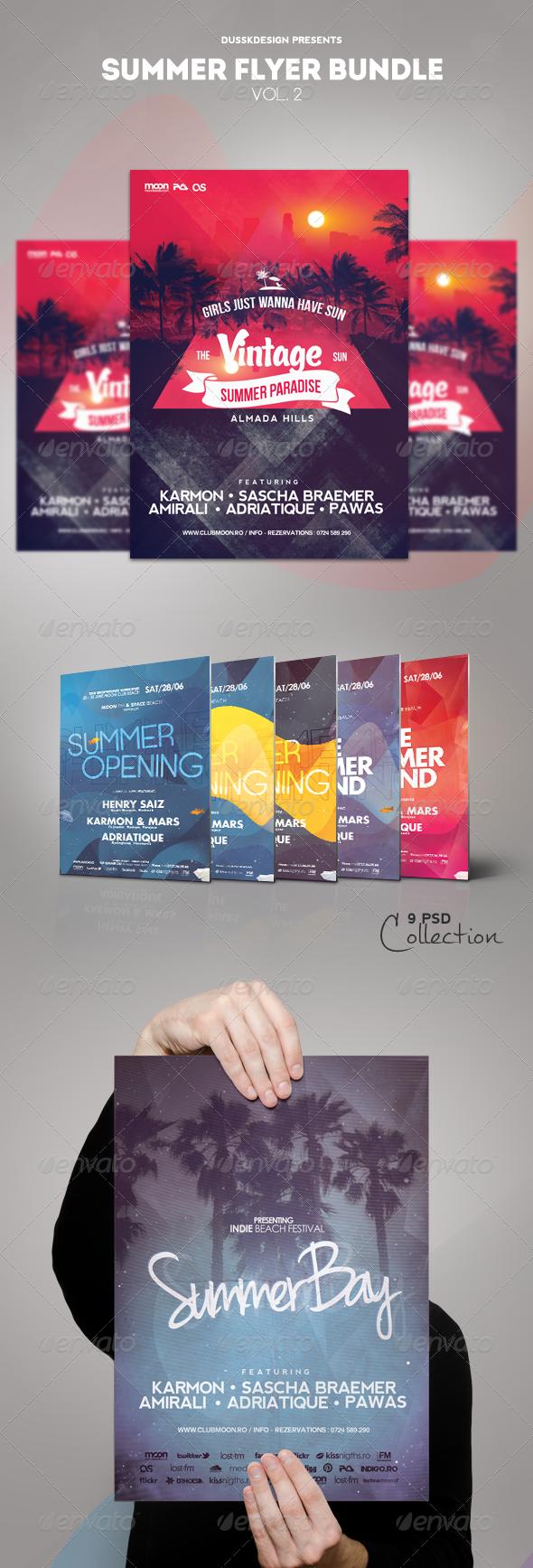 GraphicRiver Summer Flyer Bundle Vol 2 5425483