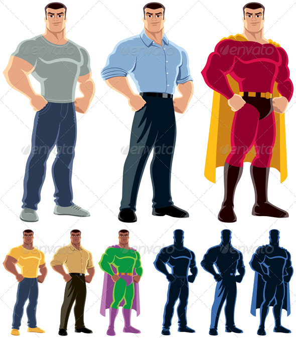 Superhero Transformation - People Characters