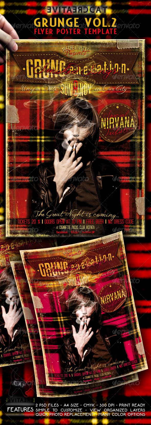 Grunge Flyer/Poster Vol. 2 - Events Flyers