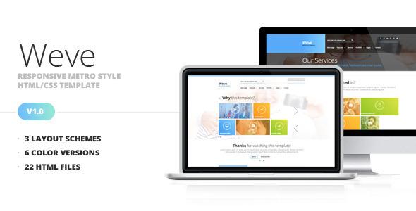 ThemeForest Weve Responsive Metro Style HTML CSS Template 5375047