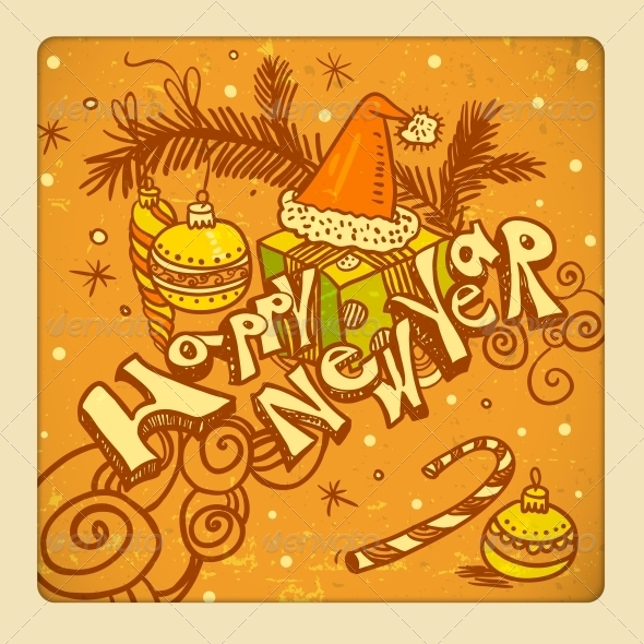 GraphicRiver Happy New Year background 5426817