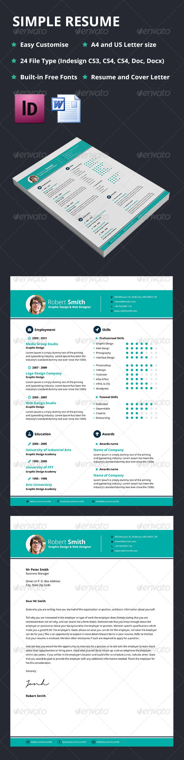 GraphicRiver Simple Resume 5426862