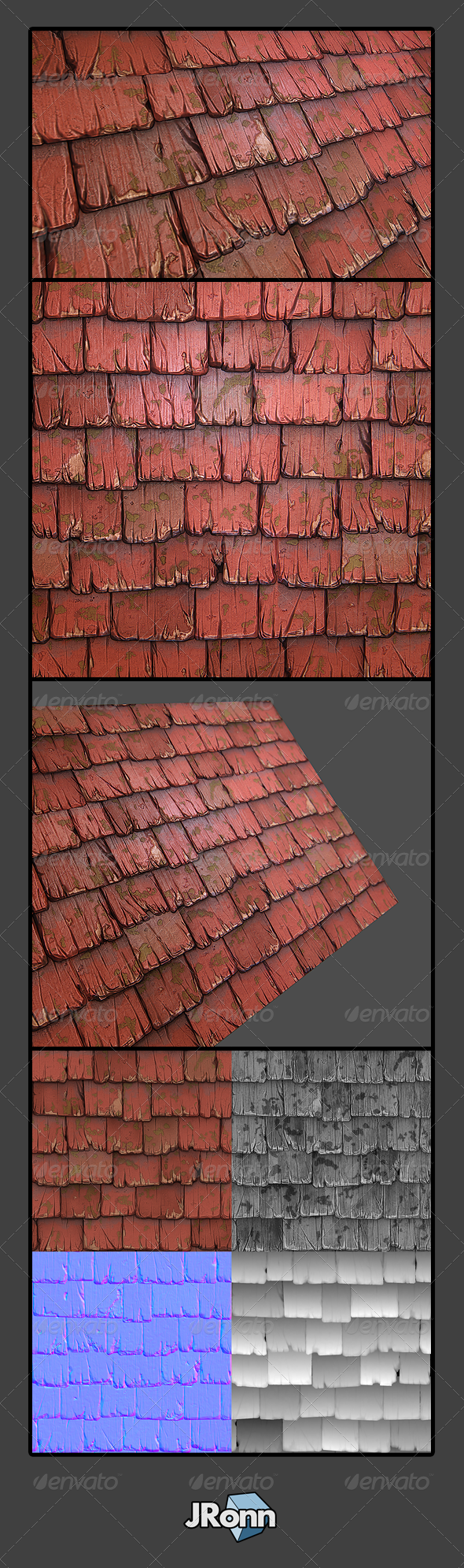 3DOcean Wooden Roof Tile 01 5426953