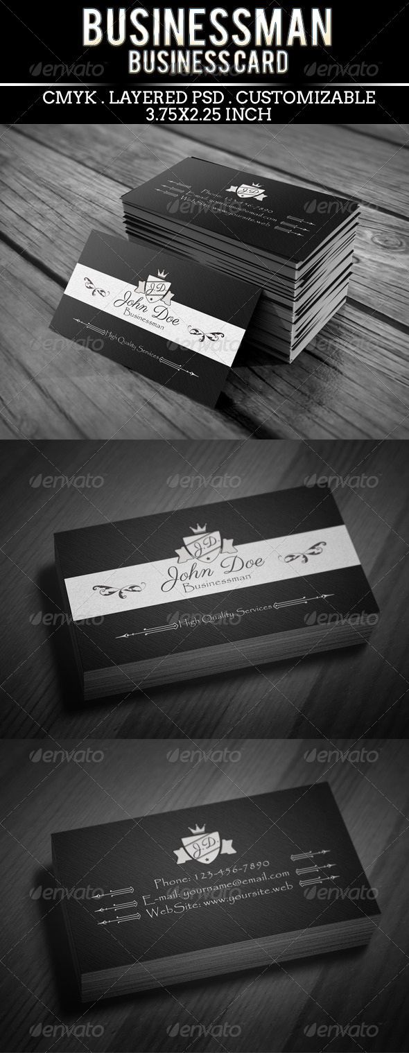 GraphicRiver Businessman Card Template 5408446