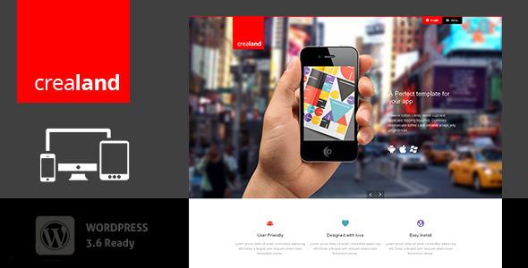 ThemeForest Crealand Responsive app landing theme 5385995