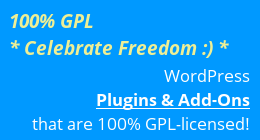 100% GPL WordPress Plugins
