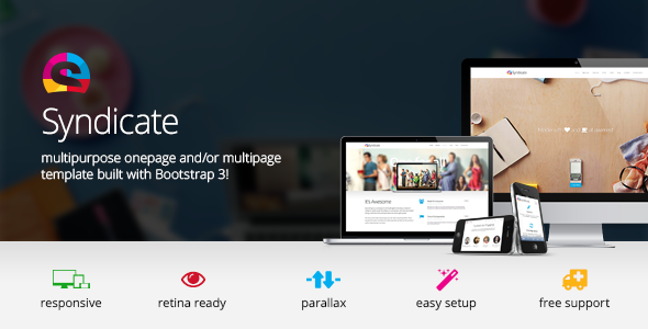 ThemeForest Syndicate All Purpose Bootstrap Retina Template 5412688