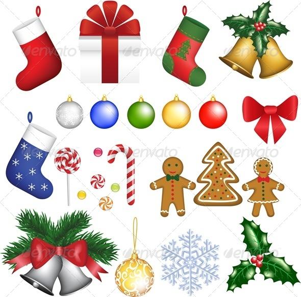 GraphicRiver Christmas Set of Decoration 5427128