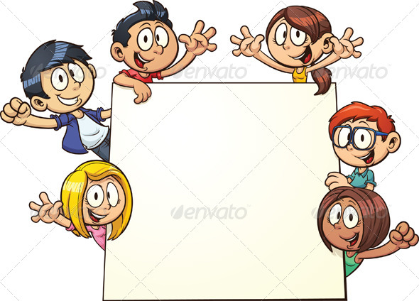 GraphicRiver Kids Holding Sign 5427198