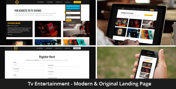 ThemeForest Tv Entertainment Responsive Landing Page 5422993