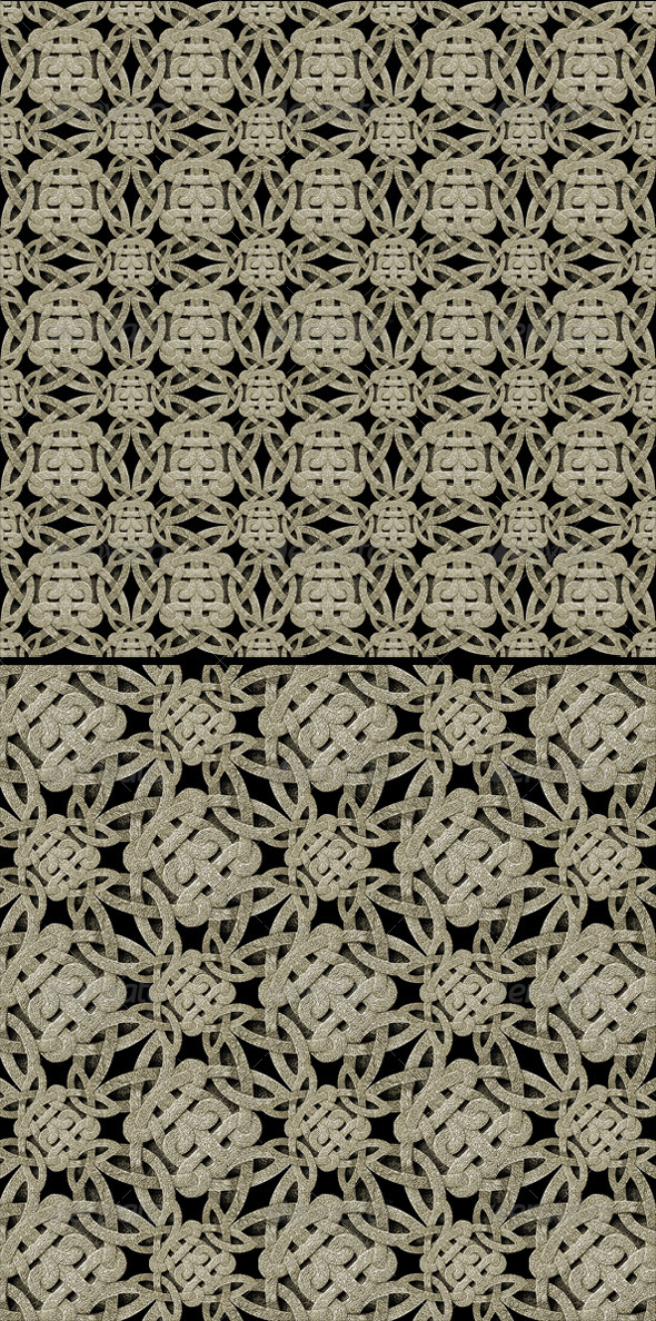 3DOcean 2 Seamless Ornament Stone Patterns 5427777