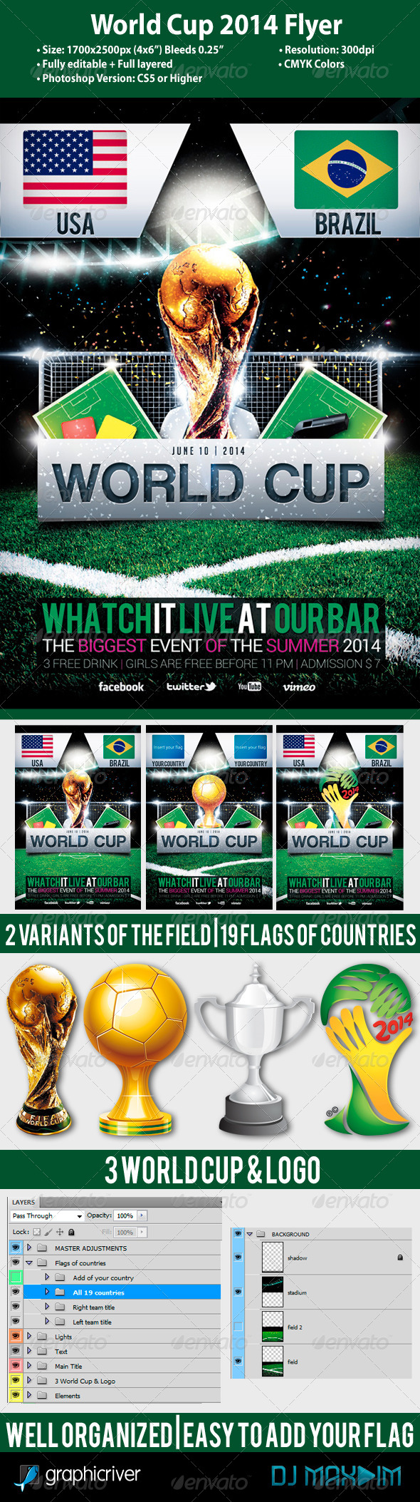 GraphicRiver World Cup 2014 Flyer Template 5389282