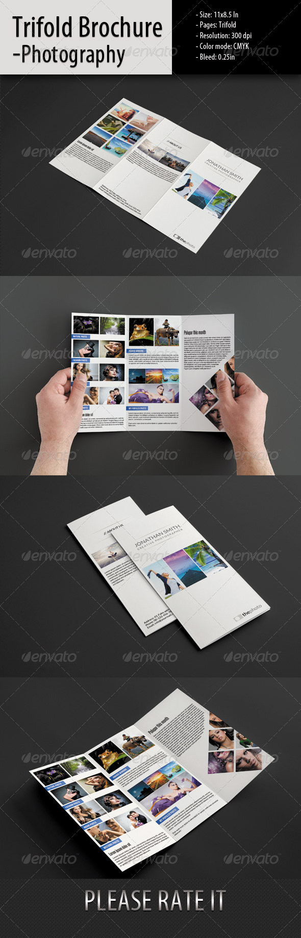 GraphicRiver Trifold-Photographer Short Portfolio 5427992