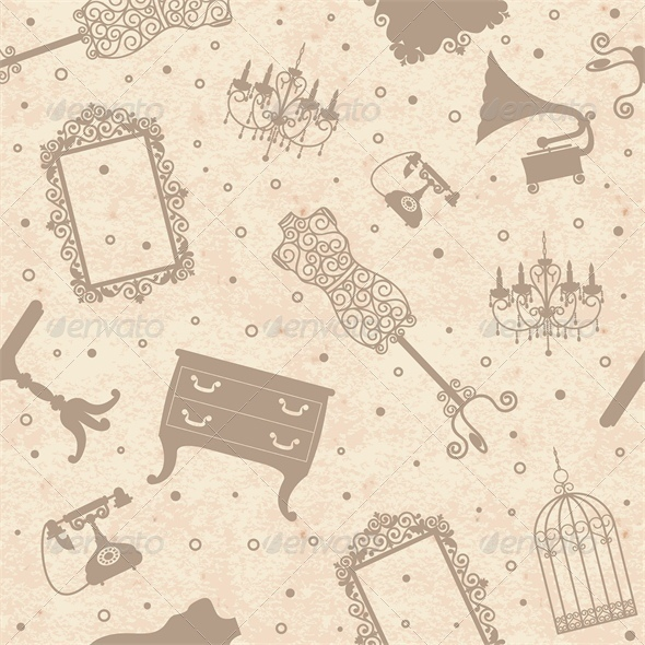 GraphicRiver Paper Background with Antique Furniture 5428034