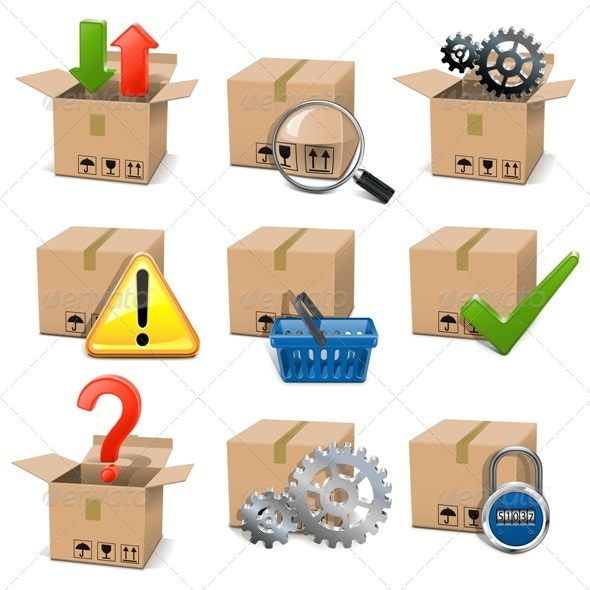 GraphicRiver Vector Shipment Icons Set 5428155