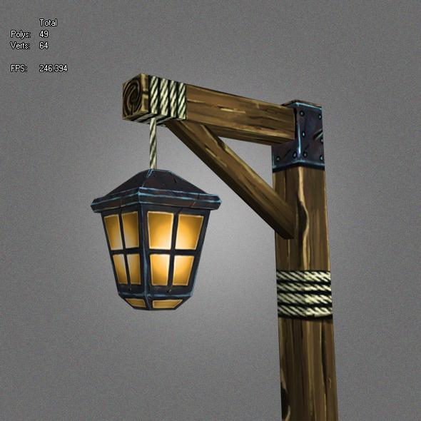 3DOcean Low Poly Lantern 1 5428234