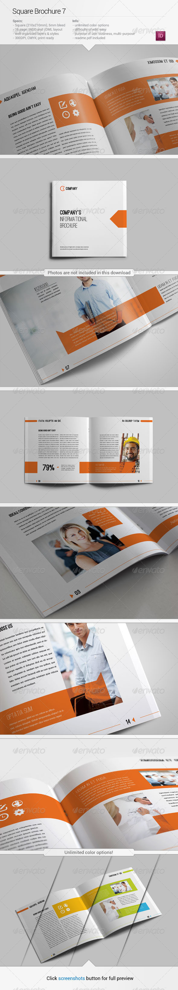 GraphicRiver Square Brochure 7 5428302