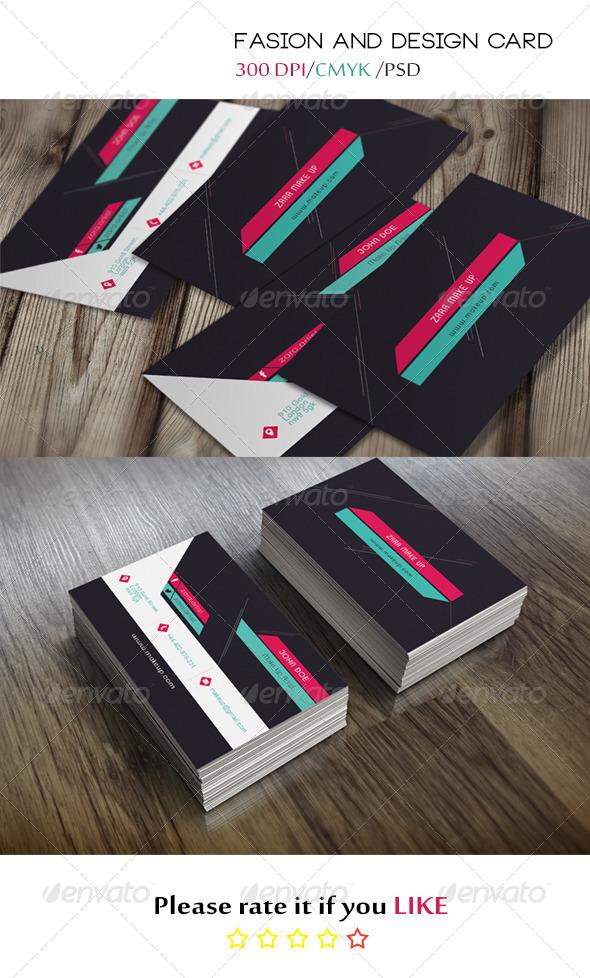 GraphicRiver Design & Fashion Business Card 5428325