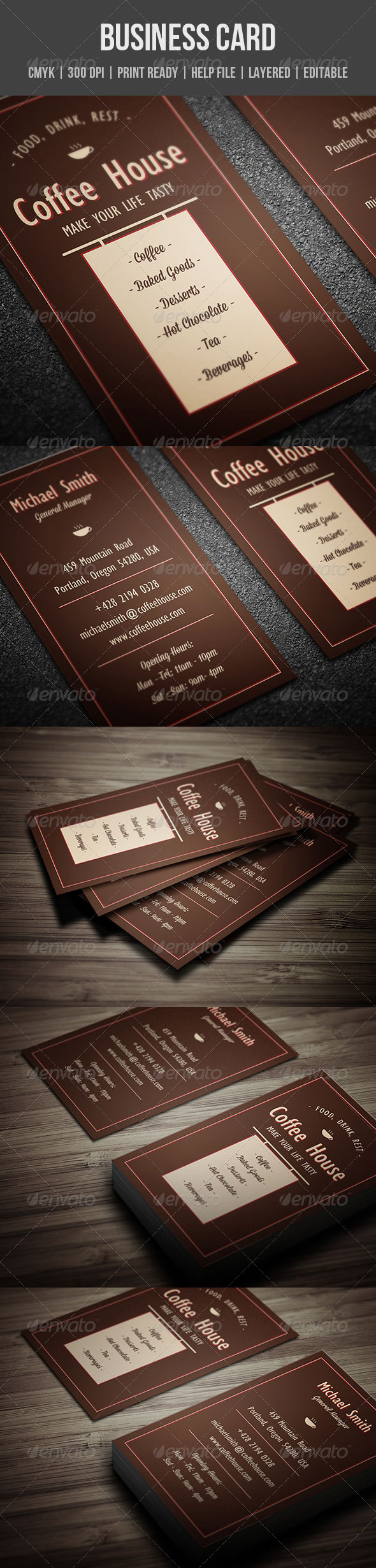 GraphicRiver Coffee House Business Card 5428390