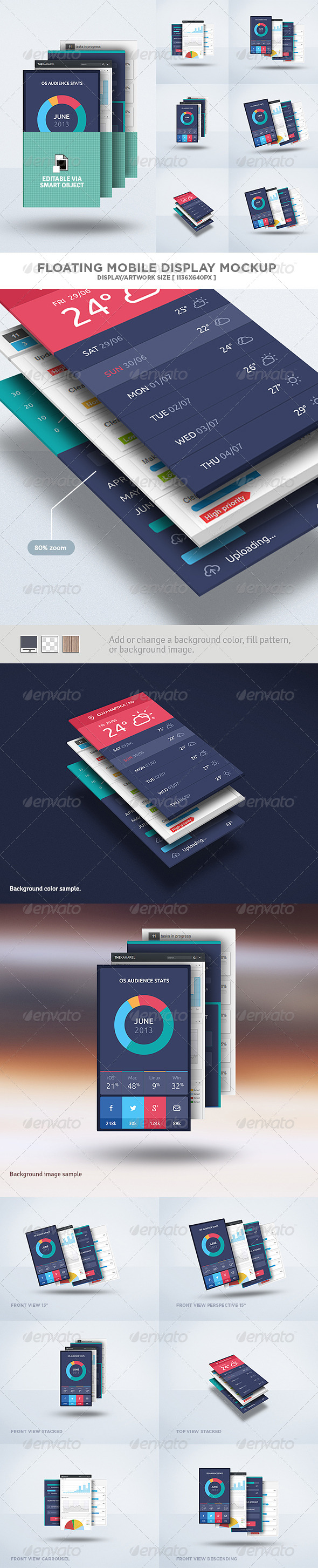 Floating Mobile Display Mock-Up - Mobile Displays