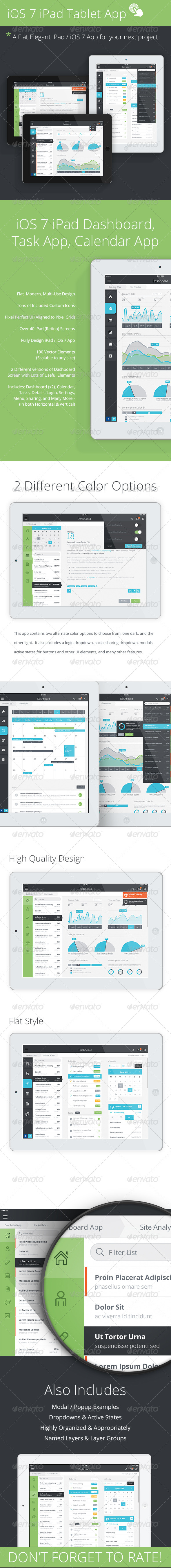 GraphicRiver Tablet App & Mobile Dashboard 5405147