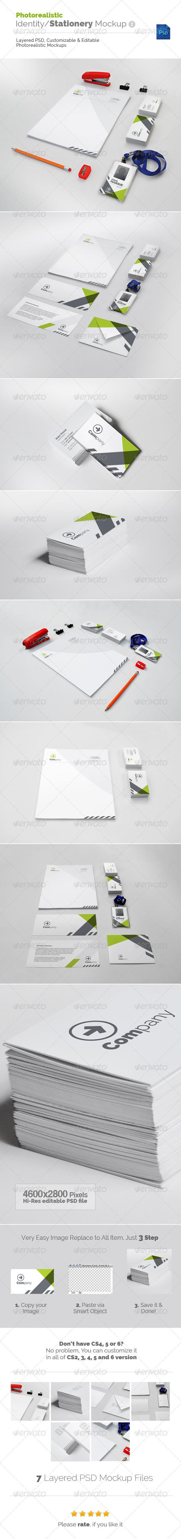 GraphicRiver Photorealistic Identity Stationery Mockup v2 5428804